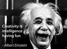 Albert-Einstein with quote
